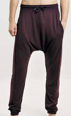 Burgundy Drop Crotch Joggers    Still available in black and grey