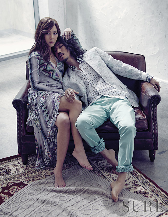 Tiger JK & Yoon Mirae for Sure Korea February 2015. Photographed by Lee Soo Jin