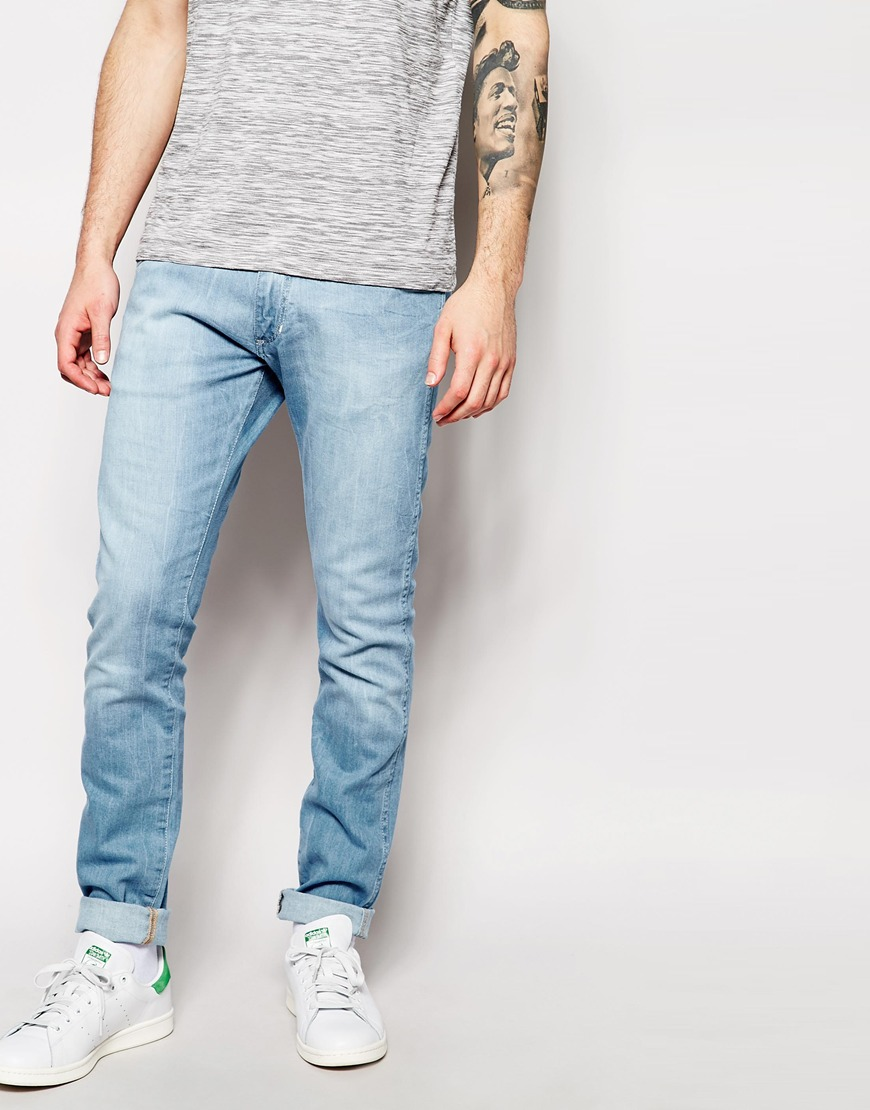Wrangler Jeans Bryson Skinny Fit The Angler Light Wash    $118