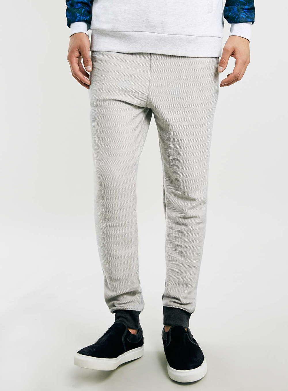 Topman Frost Marl Drop Crotch Skinny Fit Joggers $55