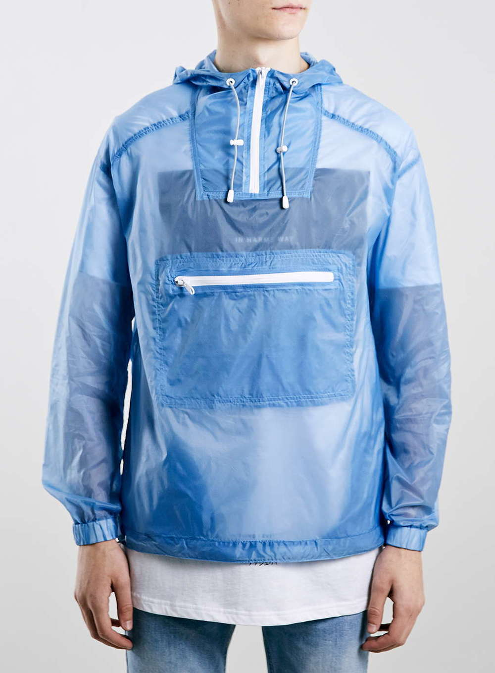 Topman Blue Packaway Trek Jacket    $65.00