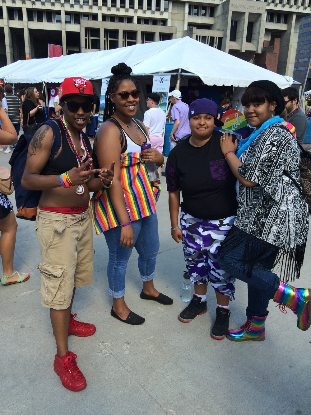 Kickin' It: Pride Style  Check out the footwear - all@style on these PRIDE's.