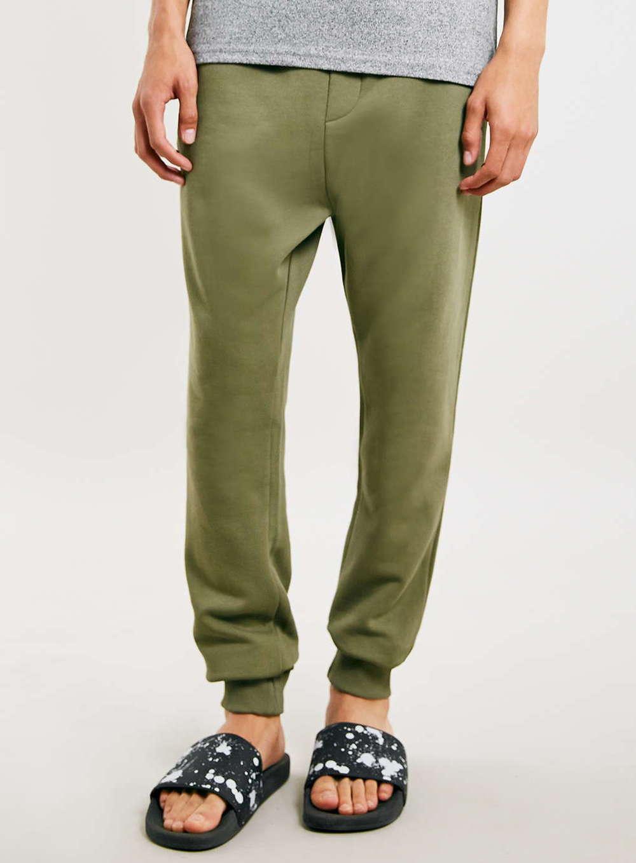 Topman Khaki Tylon Zip Joggers  PRICE:$60.00