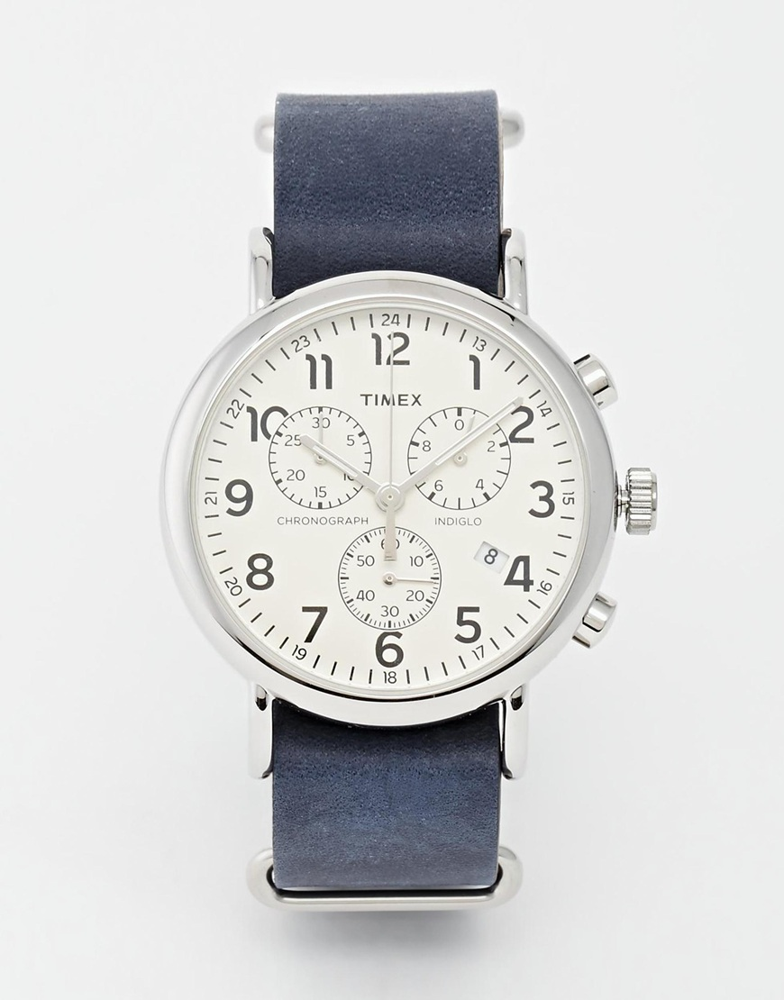 Timex Weekender Chronograph Military Strap Watch  $144.00