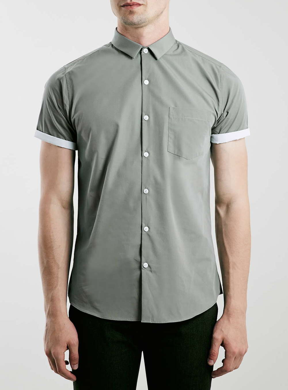 Topman Light Khaki Short Sleeve Smart Shrt  $40.00