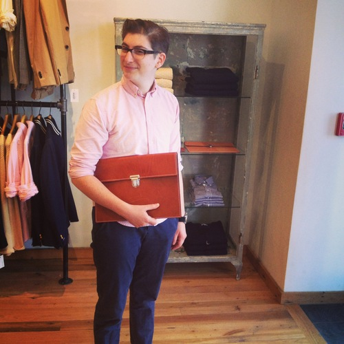 (Leather Slip Case by Gant Rugger, at Gant in Boston. Some day!)