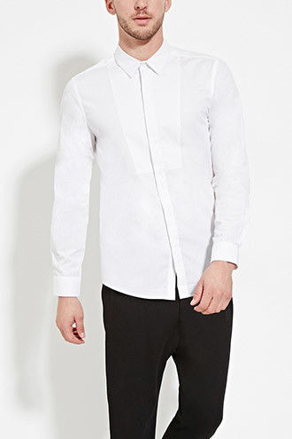 Tonal Pattern-Paneled Shirt