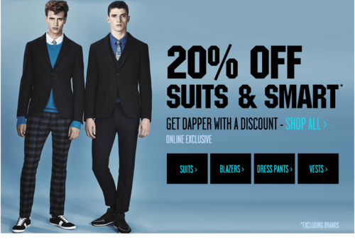 look for latest selection of 2019 fine quality Topman Sale Today and Tomorrow: 20% off Selected Suits and ...