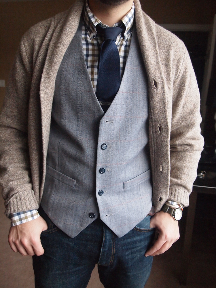 Qweary: Cardigans Over Suit Vests — Qwear | Queer Fashion