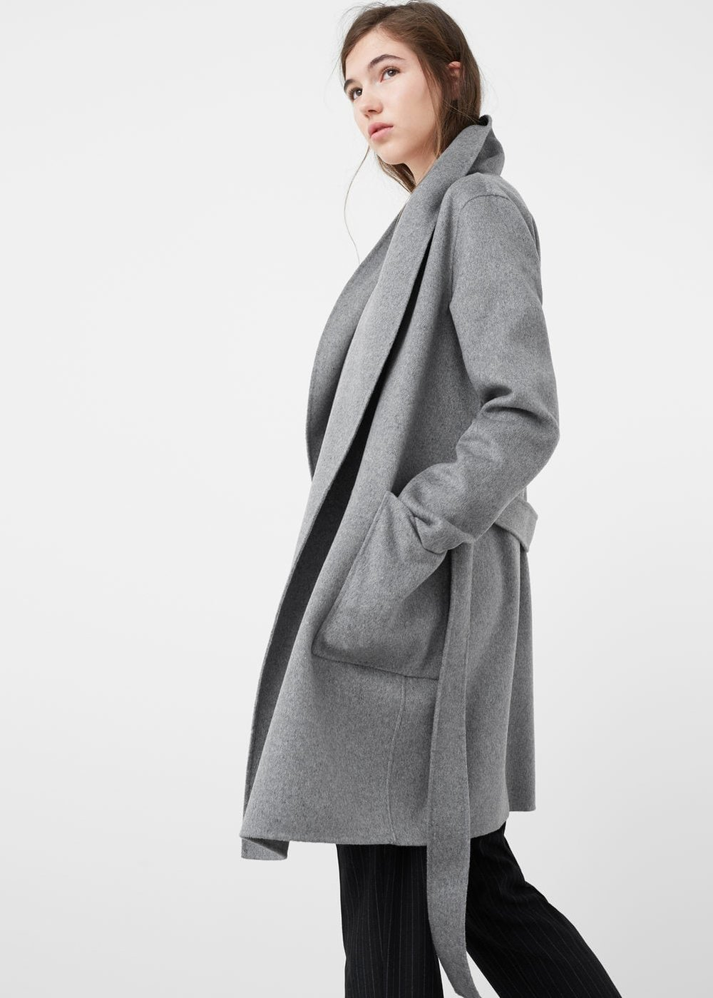 Wide lapel wool-blend coat MANGO - now $149.99