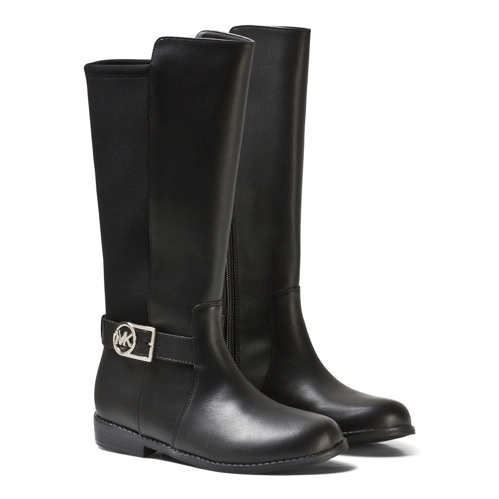 Michael Kors Tall Black Leather Contrast Boots $159.00