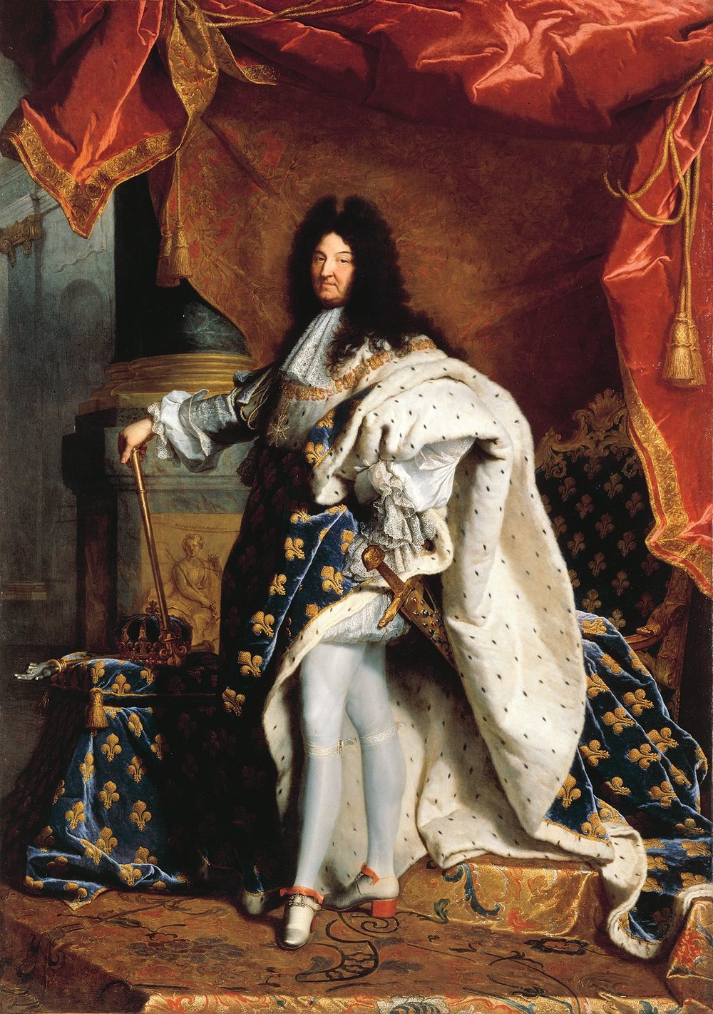 Louis XIV wearing his trademark heels in a 1701 portrait by Hyacinthe Rigaud. These tights and long flowing coats used to be considered masculine. I can only imagine how dapperQs may have dressed back then!