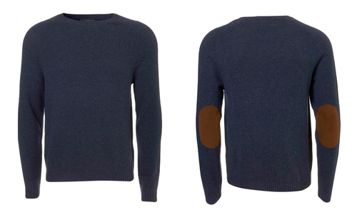 Burberry navy elbow patch jumper mens: buy cheap fashion.