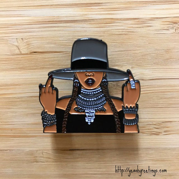 Beyonce Enamel Pin by YeaOhGreetings on Etsy