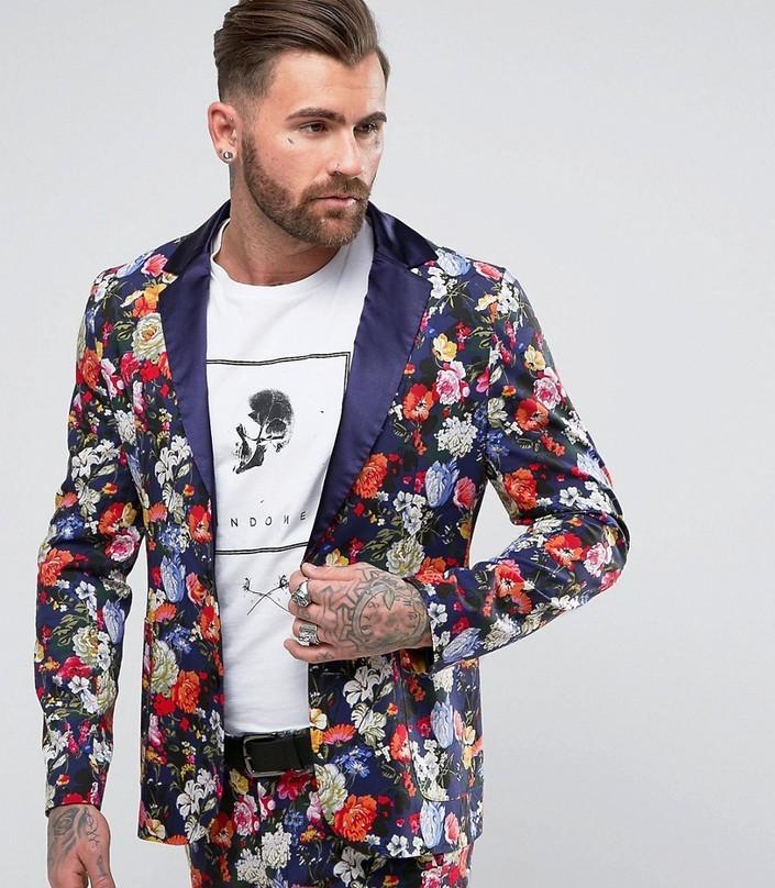 A  SOS Reclaimed Vintage Floral Blazer
