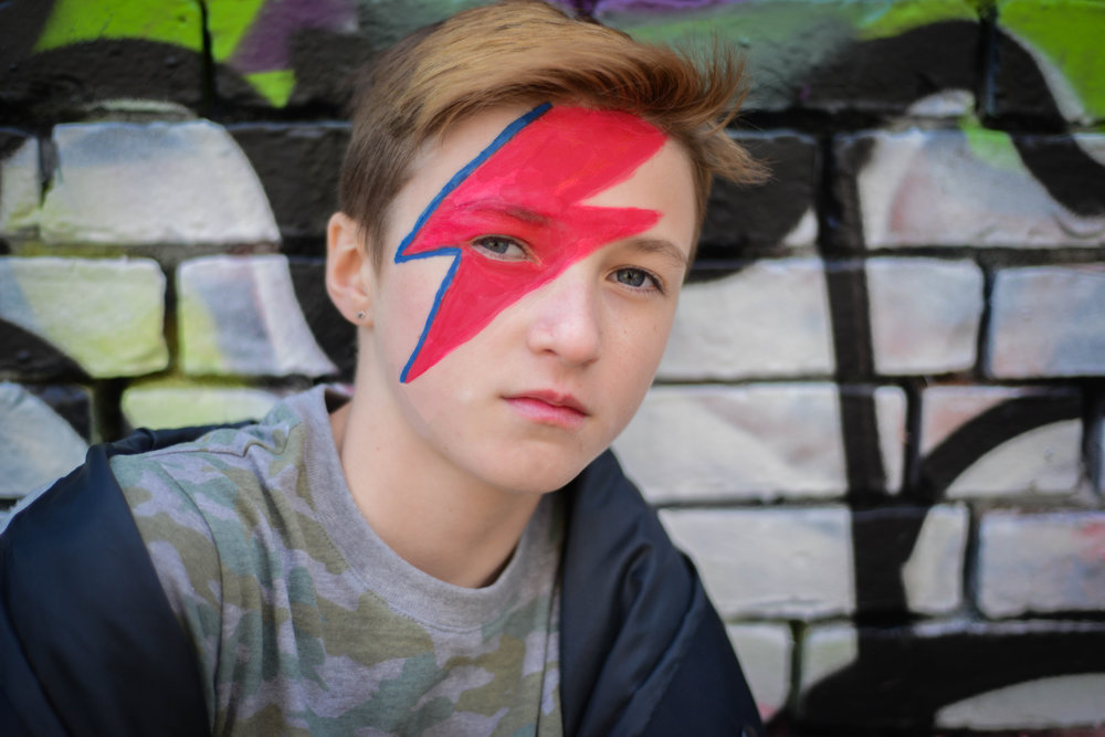 Nora - Look inspired by: David BowieMake up by: Sarah Rose
