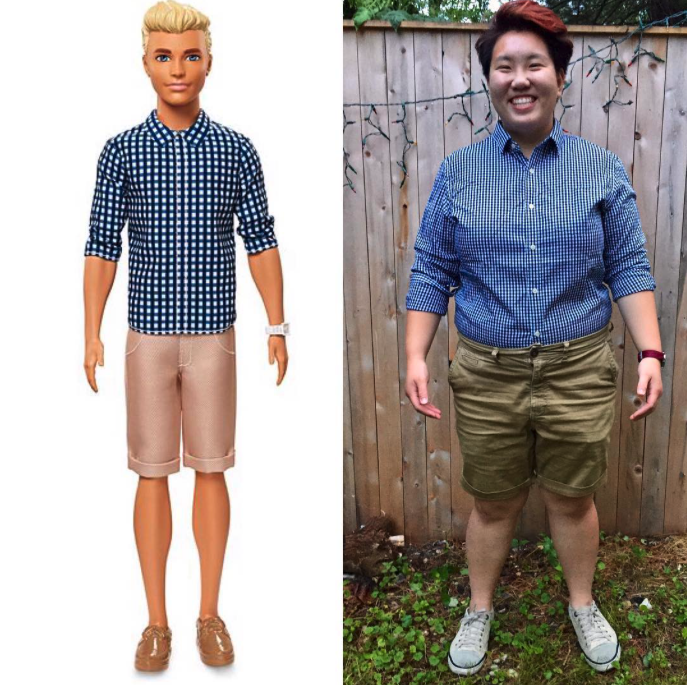 "dapperteddybear : ""Hi I'm Preppy Check Ken (2017). For better or worse, I basically wear this outfit daily from May to September. Inspired by  @autostraddle 's lesbian Ken™ rankings no. 18.  #wearealllesbianken  #lesbianken   #lesbians   #gay   #autostraddle  #dapperq   #qwear """