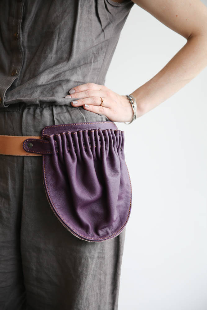 Hip Pocket Belt- Hip Bag Leather- Leather Fanny Pack- Leather Bum Bag- Festival fanny pack- leather belt bag