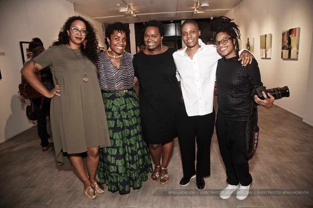 The team: Alexandria Lloyd & Niq Lewis of Lifex Niq Productions - video/photo team / Alicia Goodwin of Lingua Nigra - jewelry designer / Kris Harring - Designer / Kristen McCallum of SafeWordSociety - show producer (missing from photo, Fabienne Amisial - stylist)