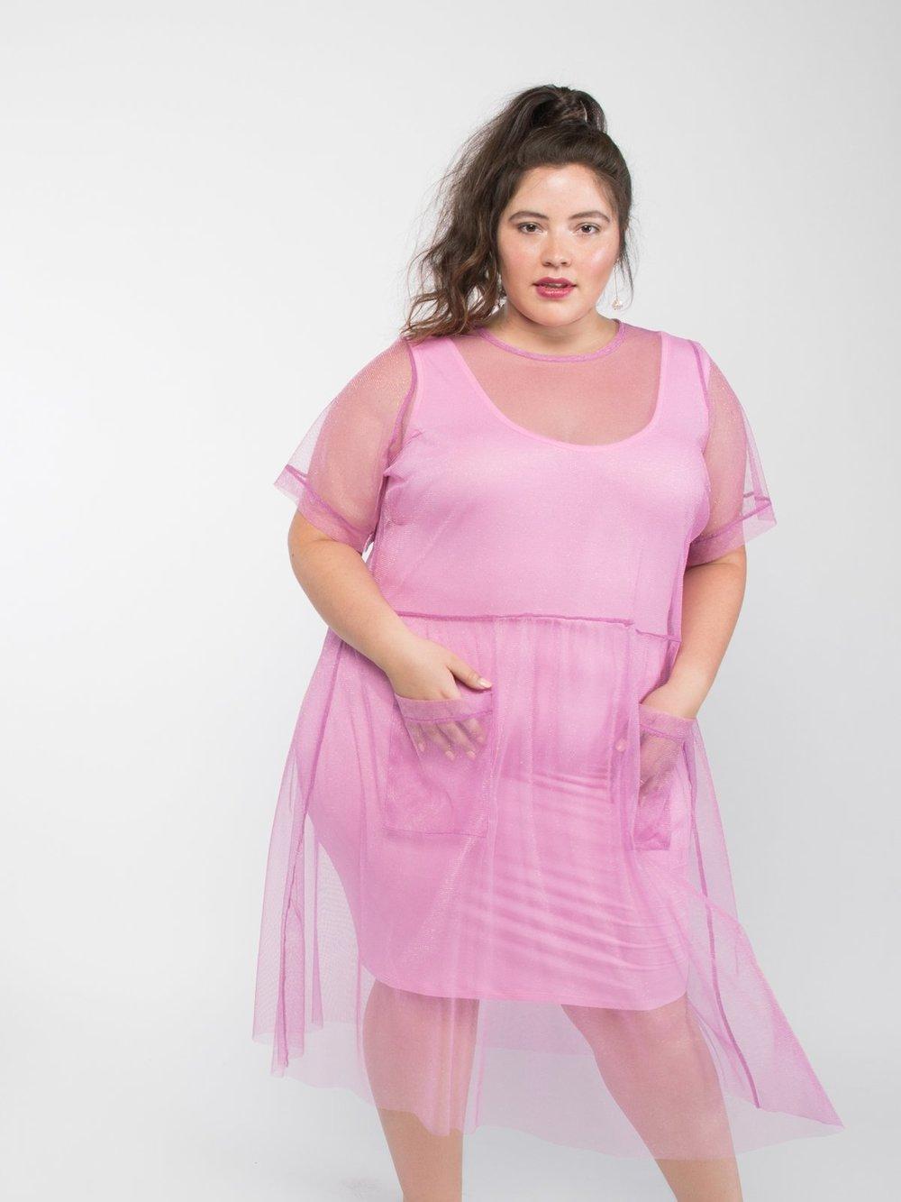 Glitter Mesh Dress –    $65.00