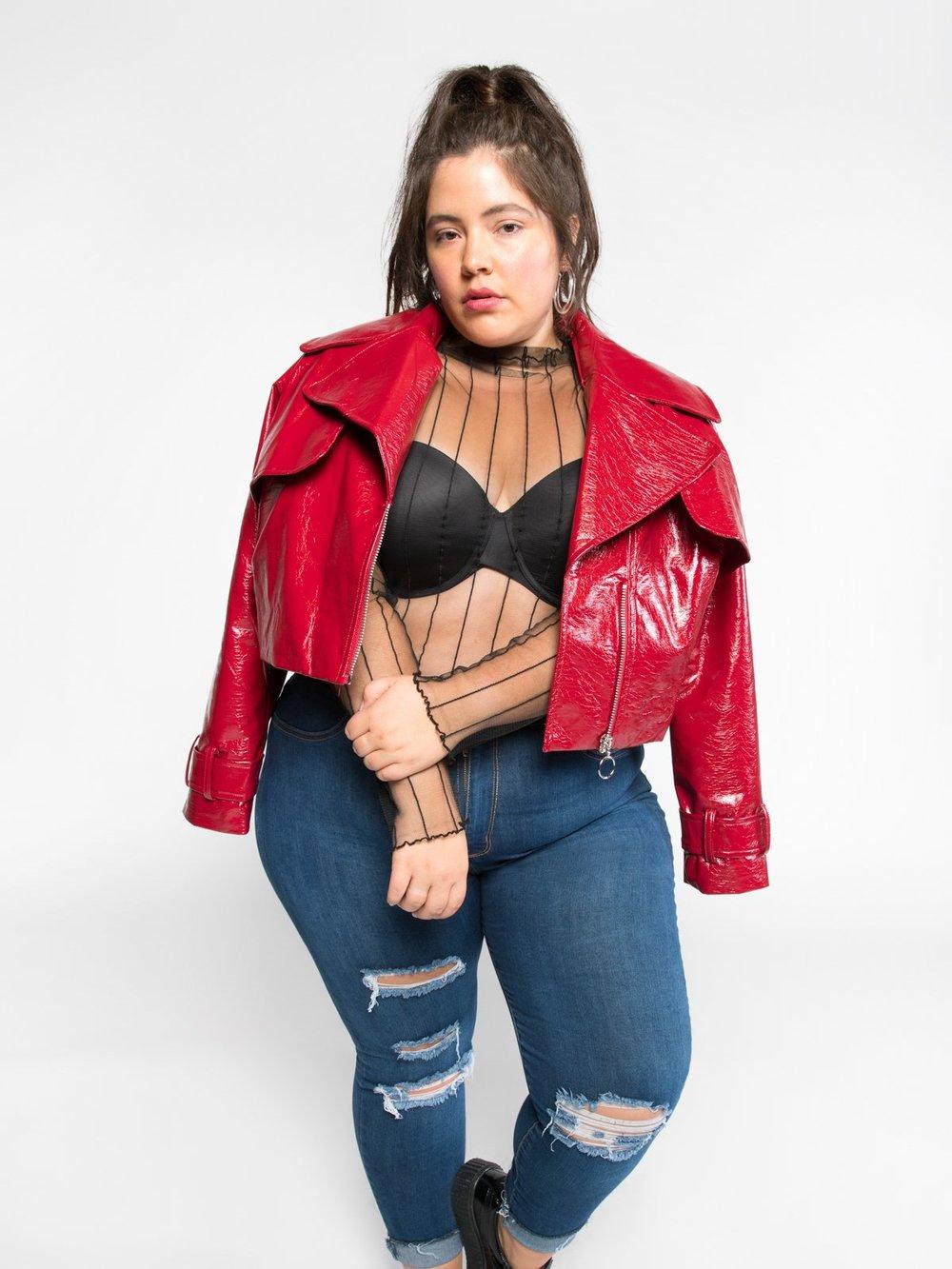 Alicia Vegan Moto Jacket   –    $109.00