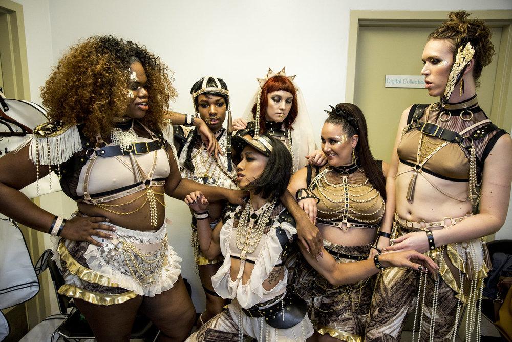 1.Audio Helkuik - Backstage at dapperQ's R/Evolution, photo by Hannah Cohen