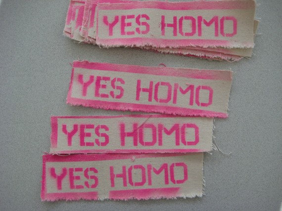 """Yes Homo"" Patches Via  Etsy"