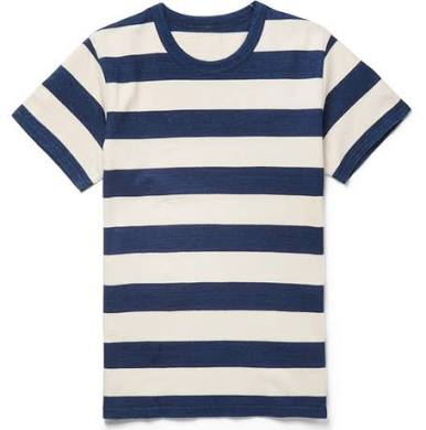 VISVIM   Slim-Fit Striped Cotton-Jersey T-Shirt