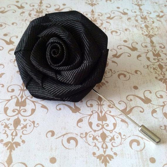 Mens Flower Lapel