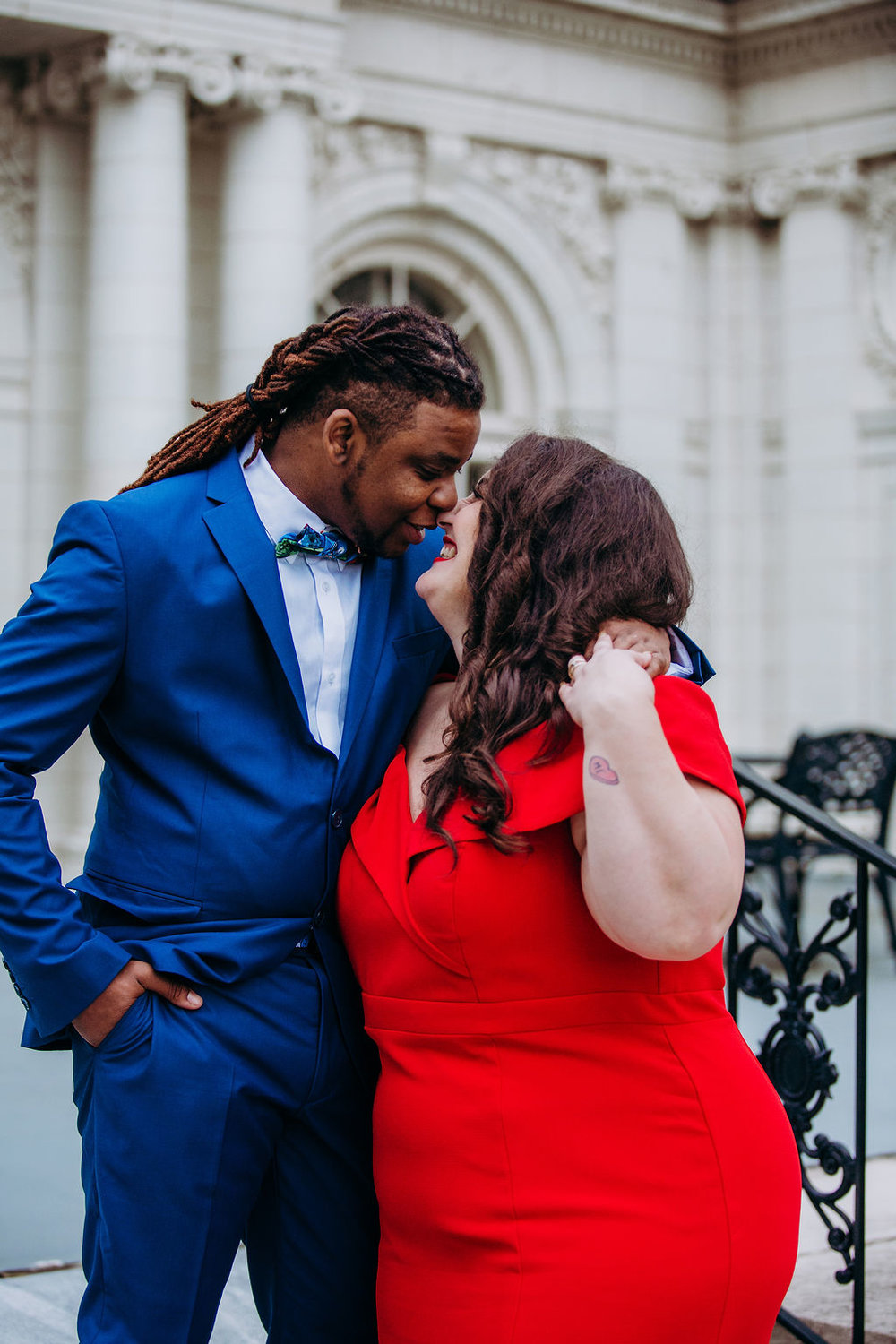"""- """"I wanted to do something very classy, but still with that """"boss-like� feel to it. Most people do standard colored suit, so I had to be a total individual and go way left with the royal blue.� — Gio"""