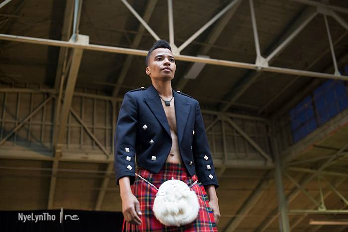 Model Jay Khady by nyelyntho at Qwear's   Dismantle Me   Fashion show, Oakland, 2015