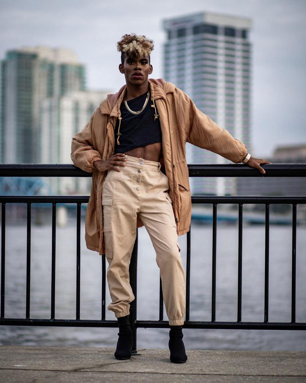 Urban Chic - Model: Lu (Instagram, Tumblr, Youtube)Jacket: ThriftedCrop Top: HanesPants: Fashion NovaHeels: Amazon Jewelry: Walmart