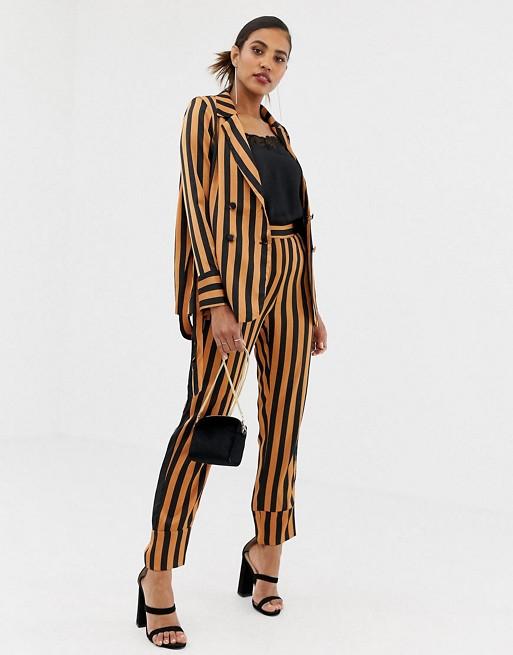 ASOS Y.A.S Soft Stripe Wide Leg Suit