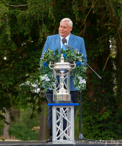 Past President of the PGA of America, Allen Wronowski as captain of the PGA Cup Team in England. Photo by: Allen Wronowski