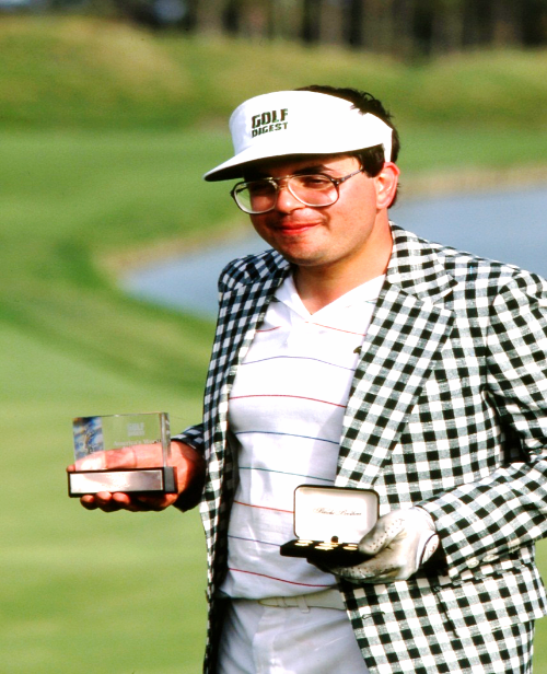 Angelo Spagnolo is named the World's Worst Avid Golfer by Golf Digest in 1986 after carding at 257 on the Stadium Course at TPC Sawgrass. Photo Courtesy: Angelo Spagnolo