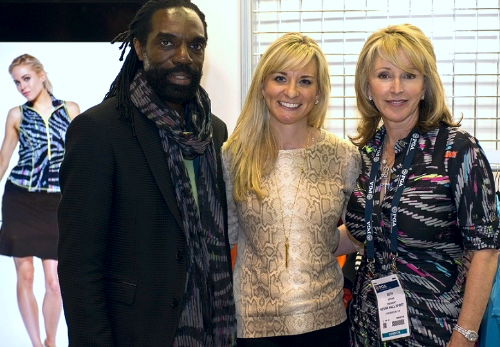 Designer Kevan Hall, Your Sunday Bag's Amy Rogers and Kevan Hall Sport's Beth DePass at 2015 PGA Show.