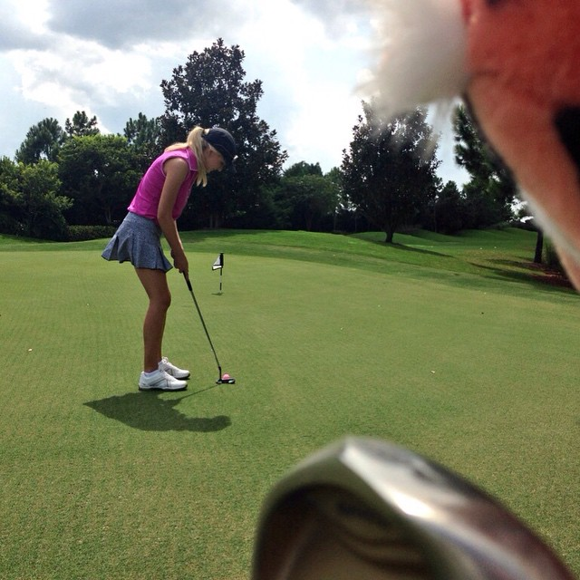 Practice makes perfect... Or at least not a total hack! #golf #lpga #ilovegolf #amyrogers #yoursundaybag