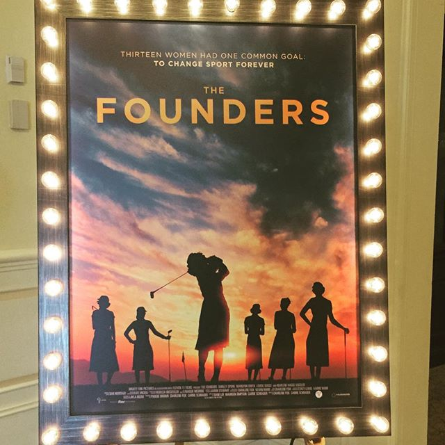 Had a great time interviewing players and filmmakers at tonight's screening of The Founders. Watch them and learn more about the film on lpga.com tomorrow.#lpga #thefounders #foundersfilm #golf #amyrogers #blog #yoursundaybag