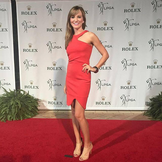 Had a great time on the @rolex Red Carpet tonight, catch our behind the scenes video tomorrow on lpga.com! #rolexawards #lpga #golf #amyrogers #yoursundaybag #redcarpet