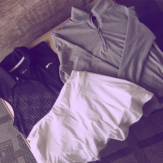 Day 5 outfit. Shirt @pumagolf, skort by @athleta, long sleeve by @gregnormancollection. #lpga #golf #amyrogers #yoursundaybag #blog