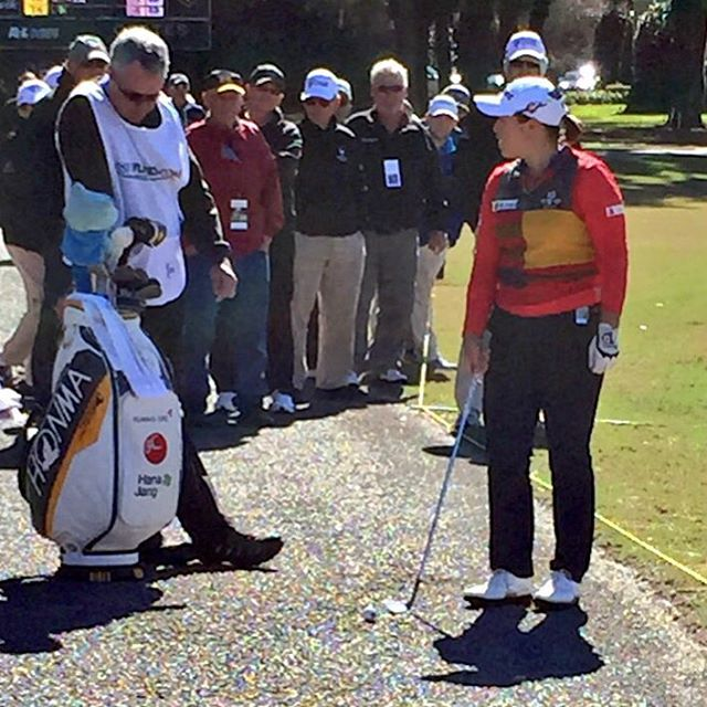 Watched @coatesgolfchamp winner Ha Na Jang hit off this path and more in my two weeks on the road covering the first events of the 2016 LPGA season. Visit my blog for more photos from the @puresilkbahamas and @coatesgolfchamp! #lpga #golf #blog #amyrogers #yoursundaybag #coates #coatesgolfchamp #puresilk #puresilkbahamasclassic
