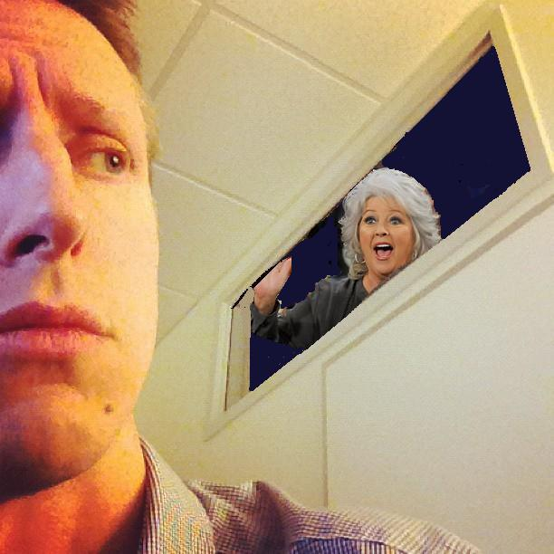 The living ghost of Paula Deen haunts me. Maybe she thinks I taste like butter.