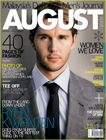 Malaysia's definitive men's journal did me the courtesy of putting the right name on this picture of Ryan Kwanten, the guy I always had in mind when writing the character.