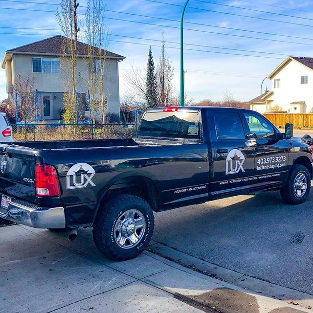 👑 New decals 👑 Watch for us in a neighborhood near you! . . . #landscaping #calgary #cochrane #yyc #yyclandscaping #calgarylandscaping #lawncare #familybusiness #shopyyc #smallbusinessyyc #lux #yycliving #yyclandscaping #maintenance #lawnmowing #trimming #sod #mulch #construction #fertilizer #customerservice #customersfirst #family #fallcleanup #snowremoval #plowing