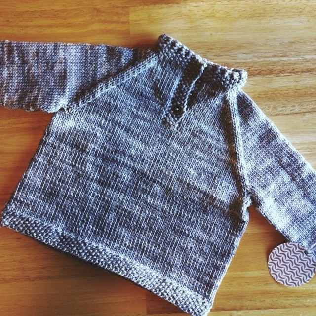 a tiny sweater for my nephew