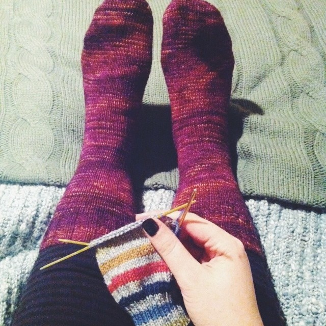 a fully converted sock knitter