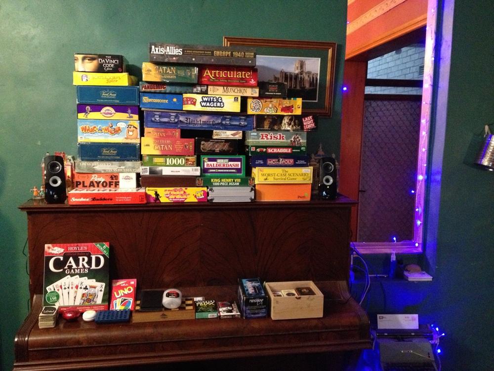 Pile of Board Games Board Game Festival