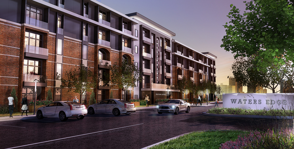 Conceptual rendering and design for exterior main entrance