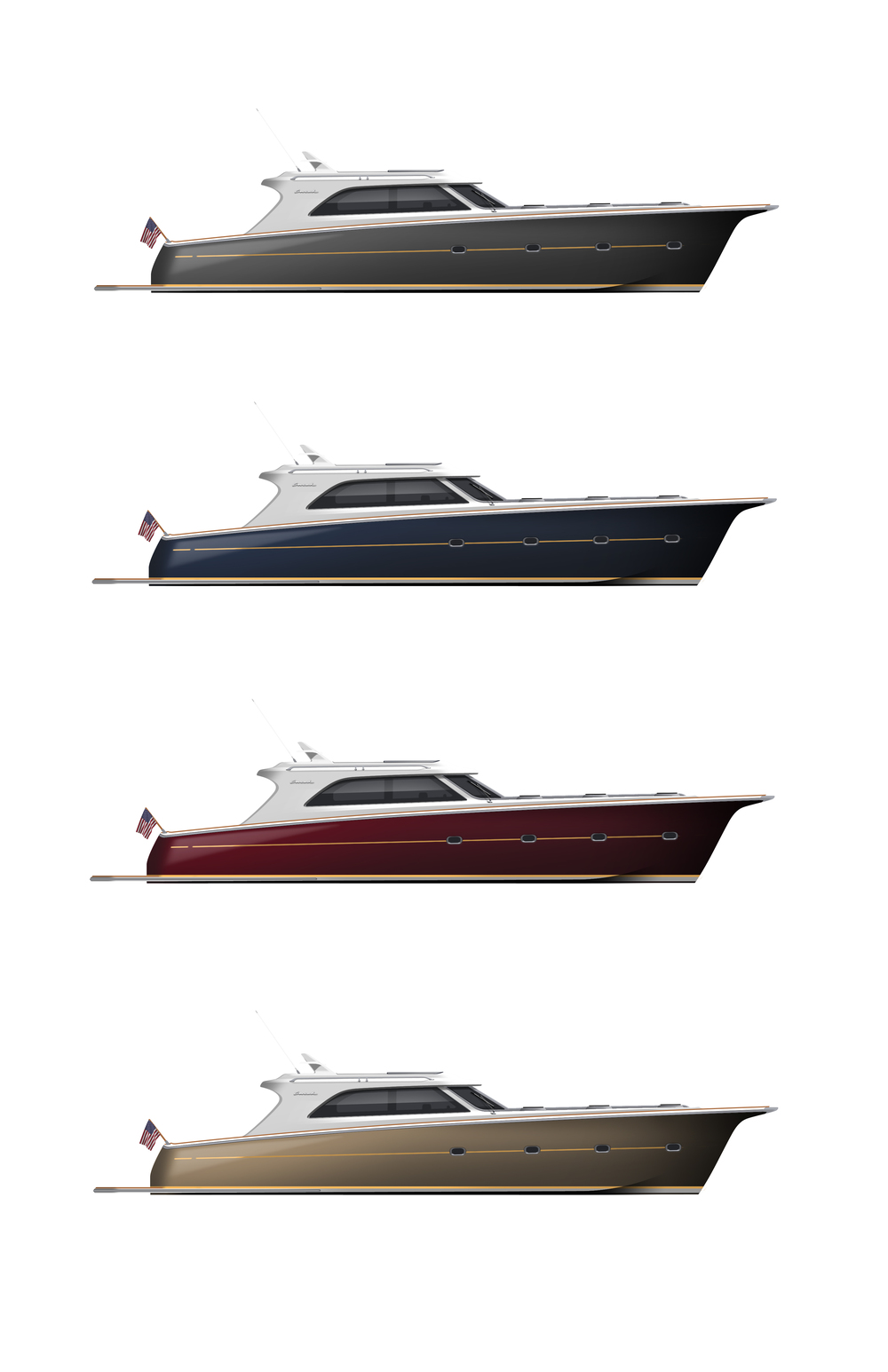 A few color combinations for the hull
