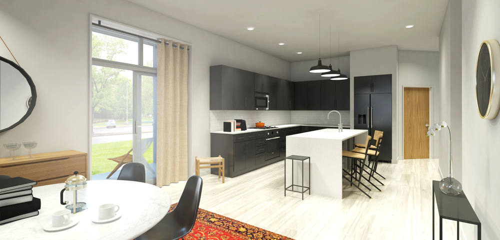 Corner model 3 bedroom unit